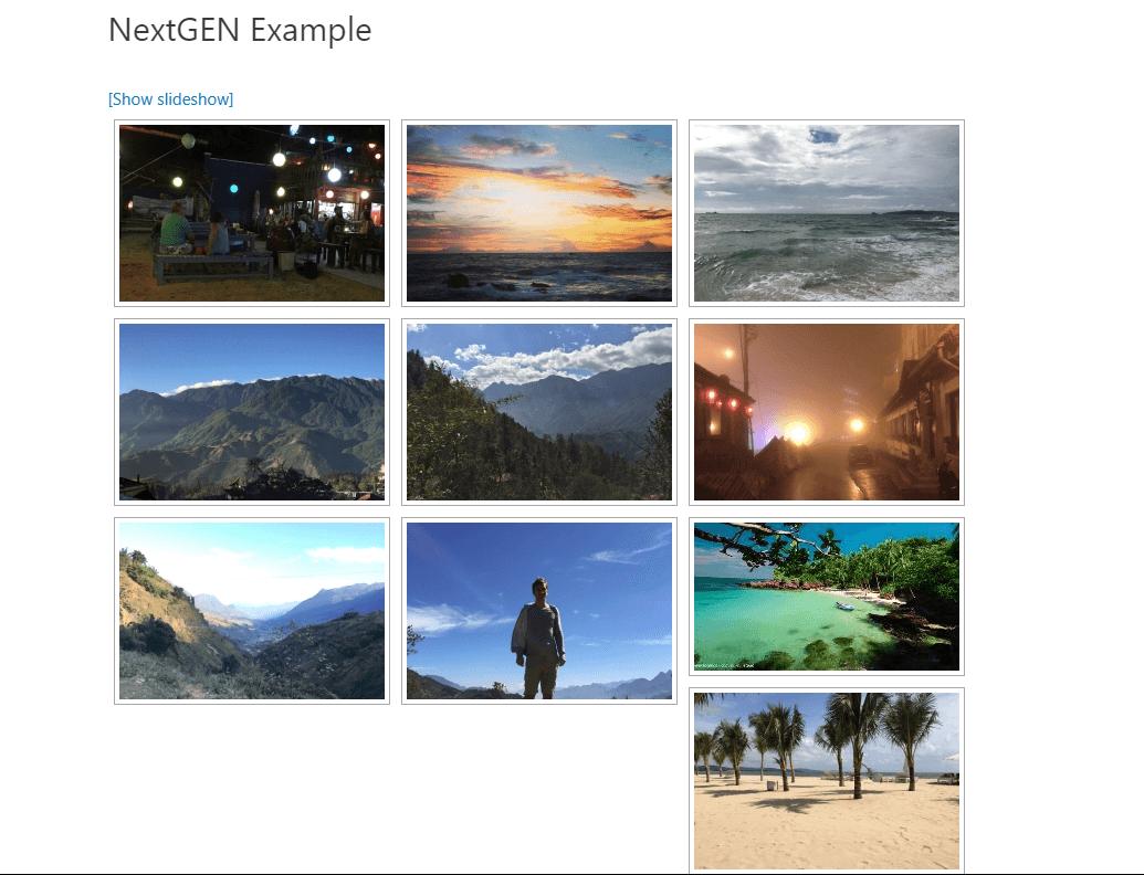NextGen Gallery is one of the deepest WordPress gallery plugins