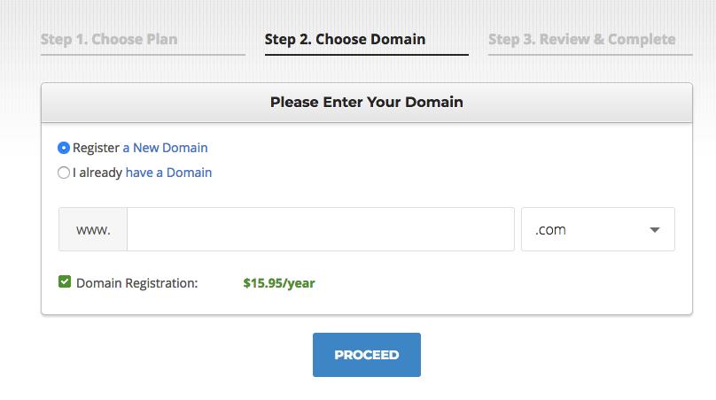 SiteGround new domain