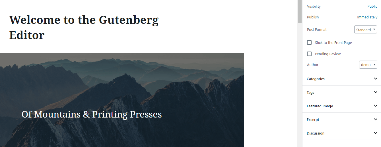The Gutenberg editor makes starting a news website easy