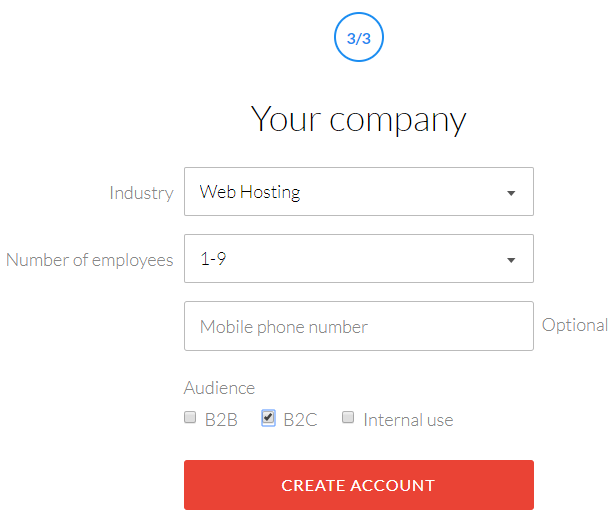 Enter company details