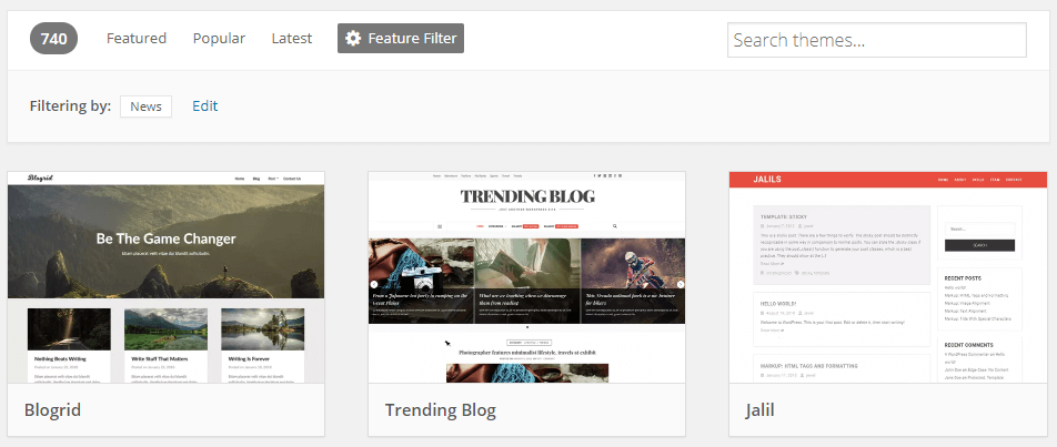 Some examples of WordPress news themes.