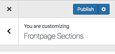 publish customizer