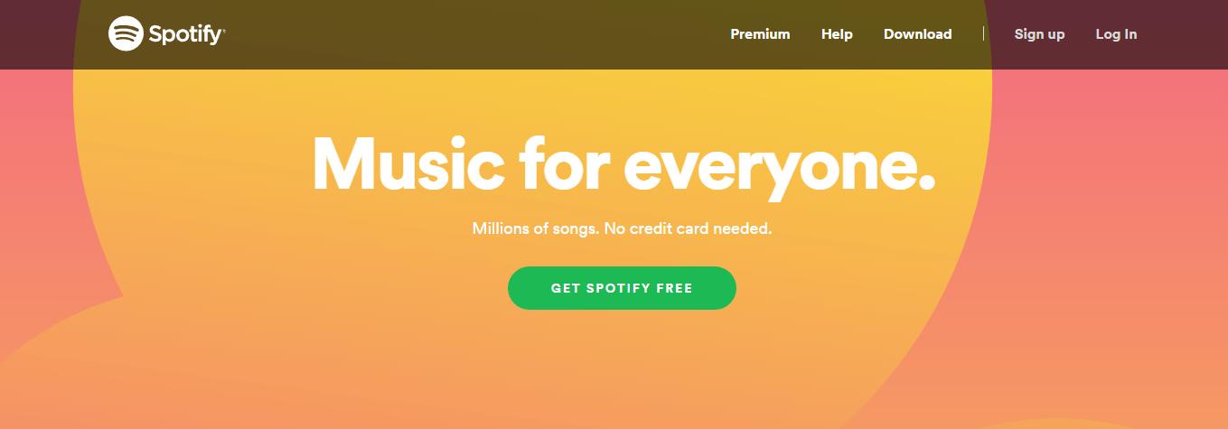 A CTA on Spotify.
