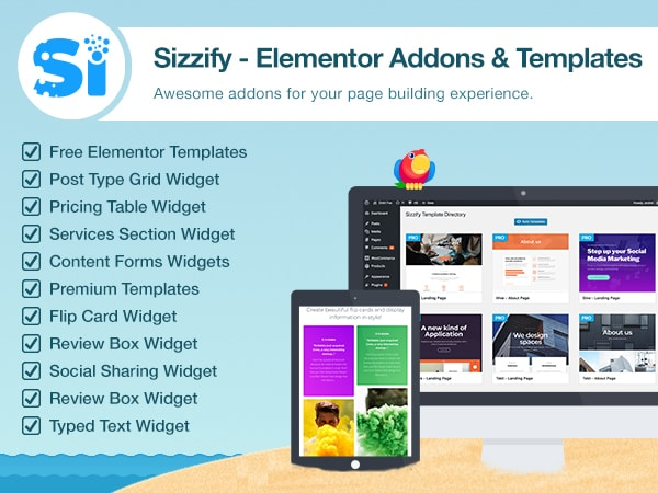 ThemeIsle - Sizzify plugin for Elementor premium templates