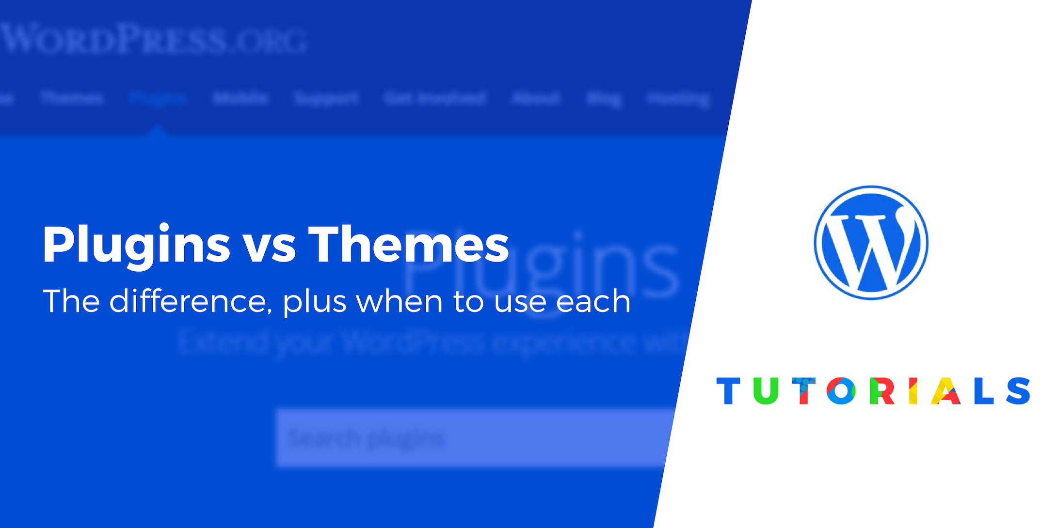 WordPress plugins vs themes
