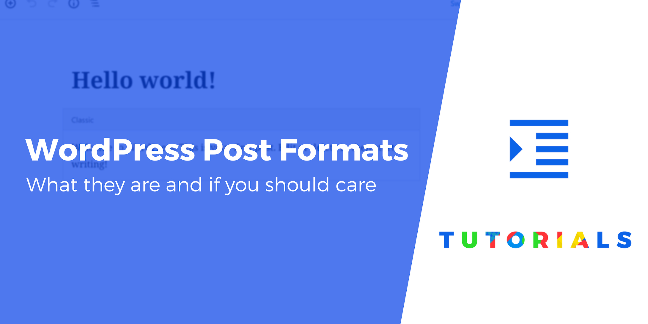 WordPress post format