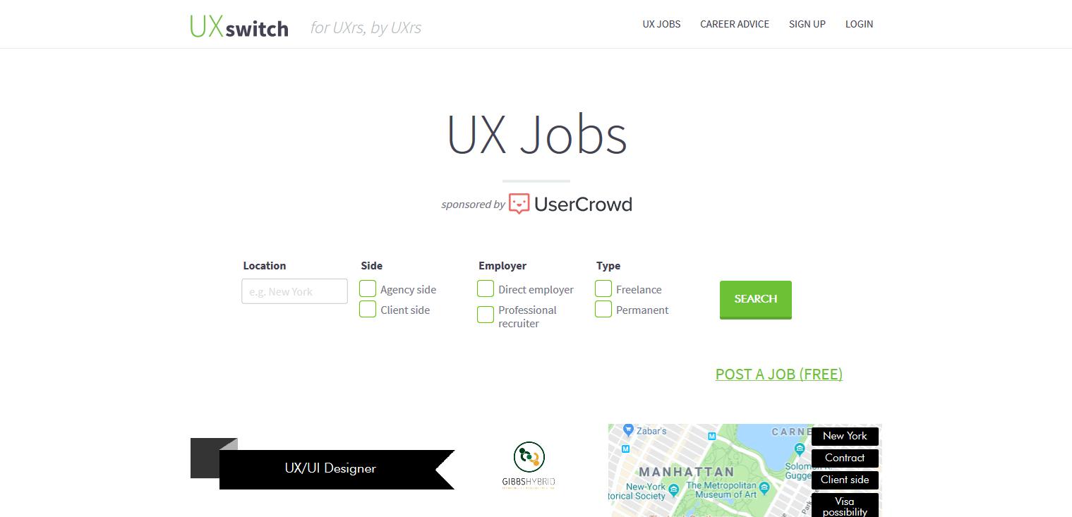UX Switch Jobs Board