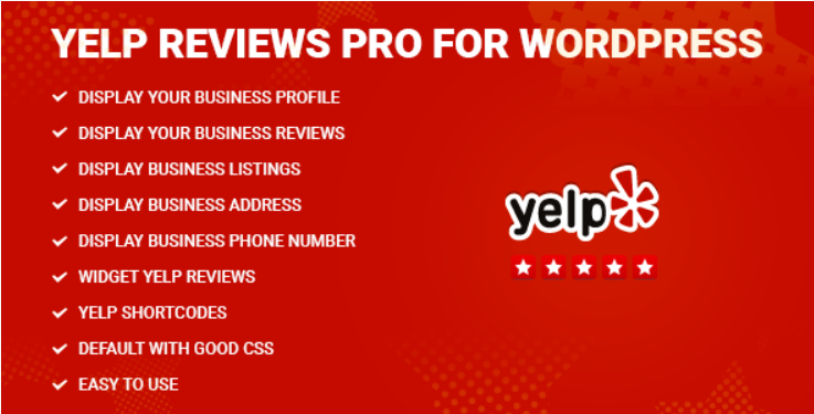 The yelp reviews pro WordPress Yelp plugin
