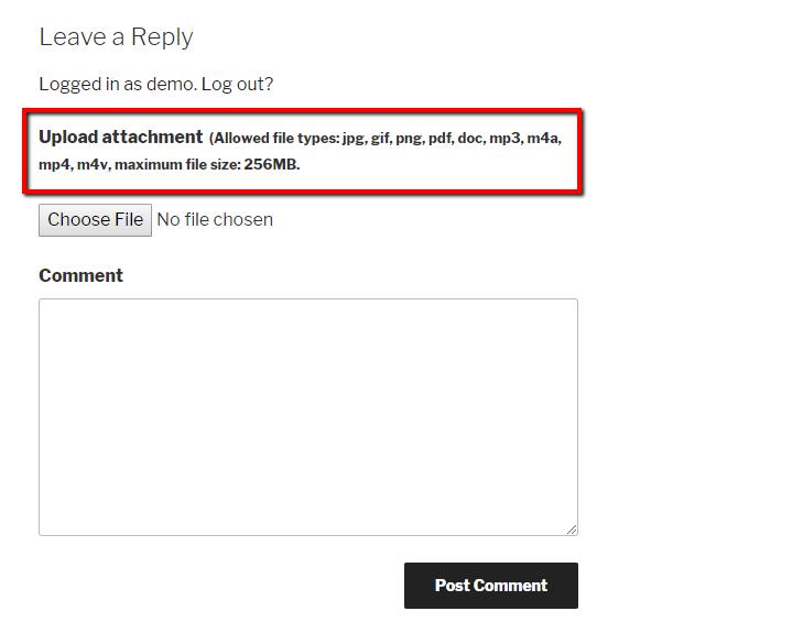 upload attachment files