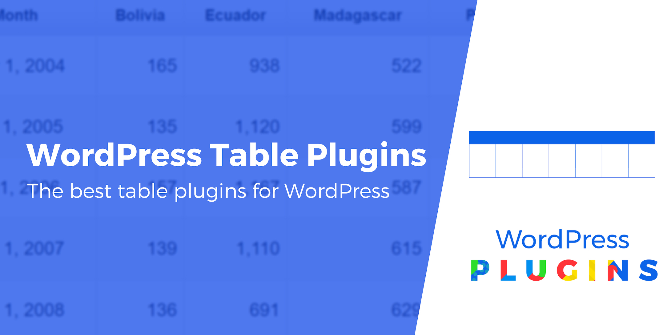 WordPress Table Plugins