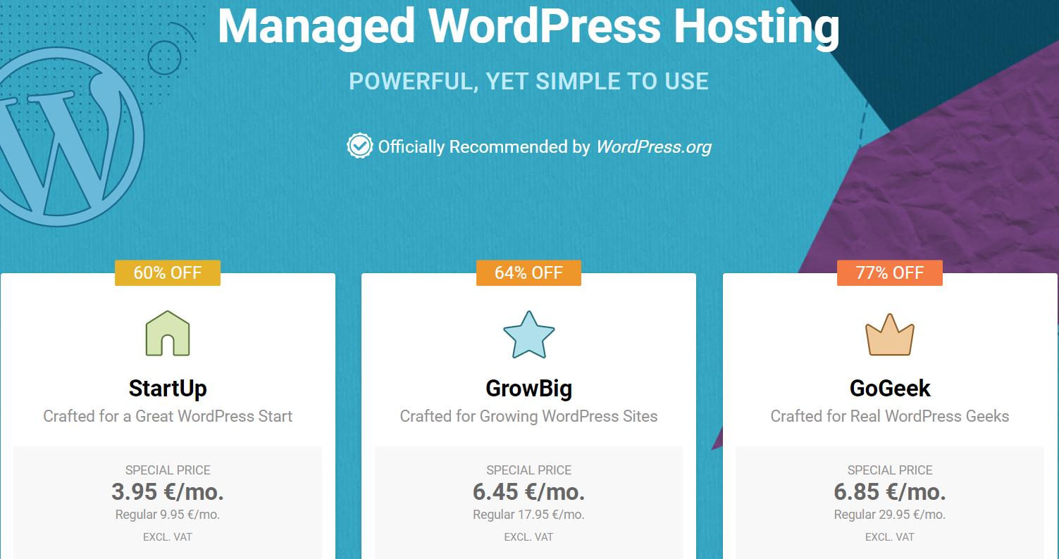 SiteGround's WordPress hosting plans.