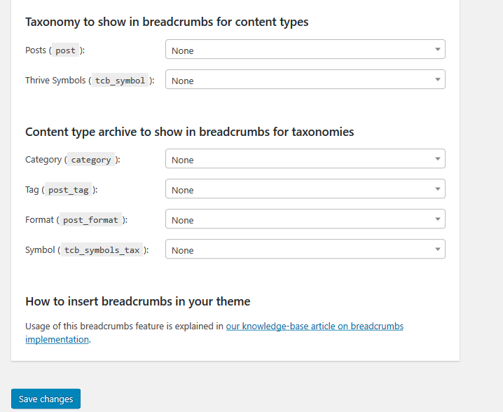 Yoast SEO breadcrumb Paramètres WordPress